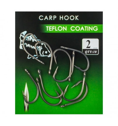 CARLIGE CARP HOOK TEFLON
