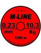 MONOFILAMENT M-LINE ROSU FLUO NEON 1200m NEW 2020