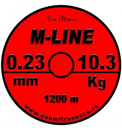 MONOFILAMENT M-LINE ROSU FLUO 1200m NEW 2019