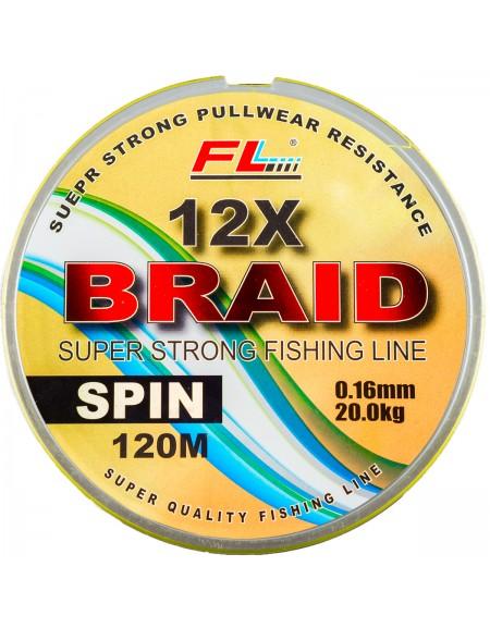 FIR TEXTIL FL 12X BRAID GALBEN FLUO 120m