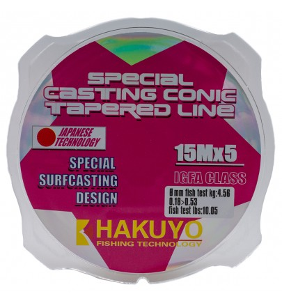 LEADER CONIC HAKUYO 5x15m - 0,18-0,53mm