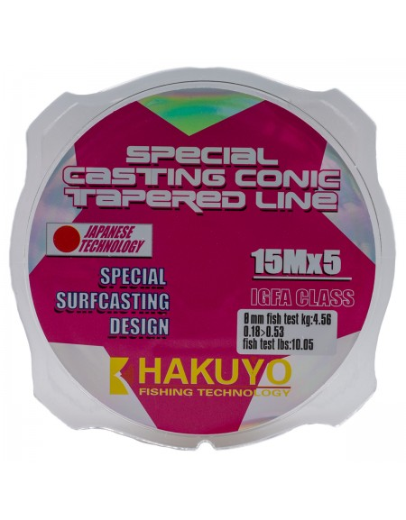LEADER CONIC HAKUYO 5x15m - 0,18-0,53mm
