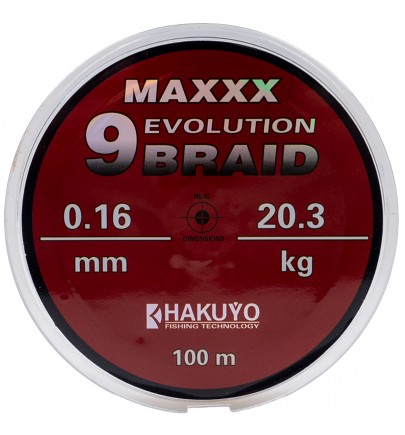 FIR TEXTIL HAKUYO MAXXX EVOLUTION 9 BRAID 100m