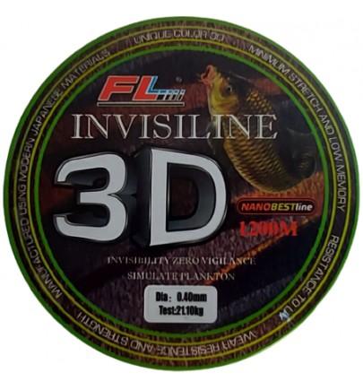 MONOFILAMENT FL INVISILINE 3D 1200m